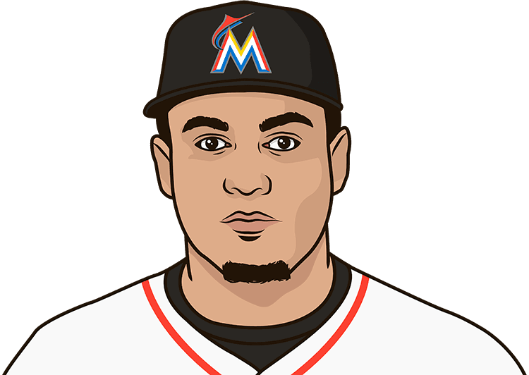 Who has the most home runs in a season for the Marlins?