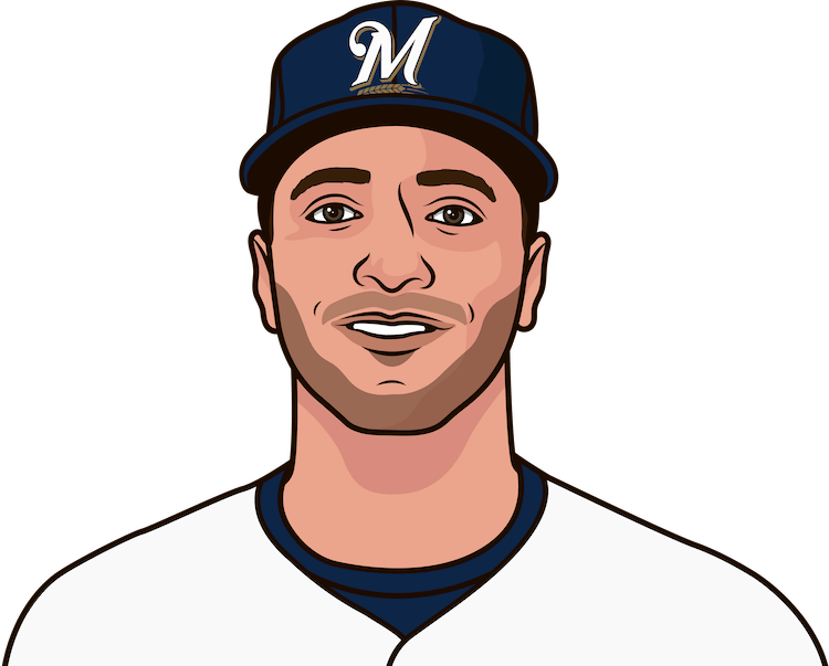 Which Brewers player has the most total bases in a game?
