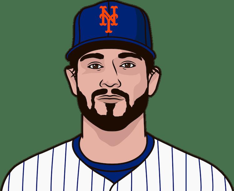Illustration of Brad Hand wearing the New York Mets uniform