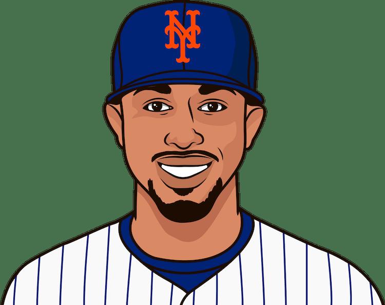 Illustration of Francisco Lindor wearing the New York Mets uniform