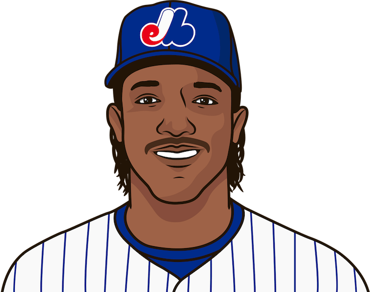 Which Expos pitcher has the most Ks in a season?