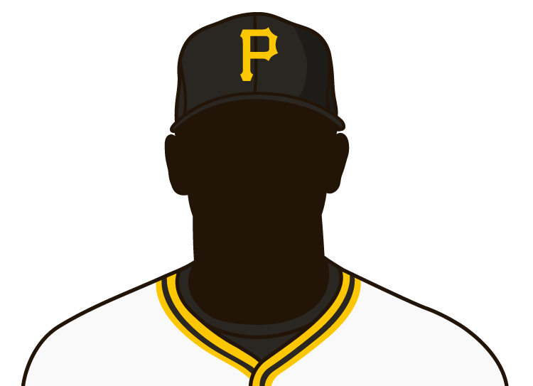 Illustrated silhouette of a player wearing the Pittsburgh Pirates uniform