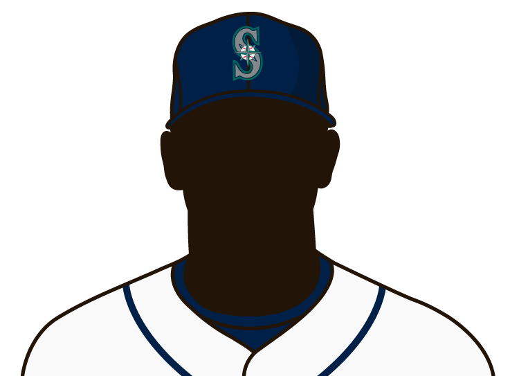 Illustrated silhouette of a player wearing the Seattle Mariners uniform