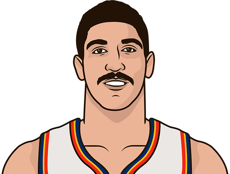 enes kanter versus golden state as member of oklahoma city thunder