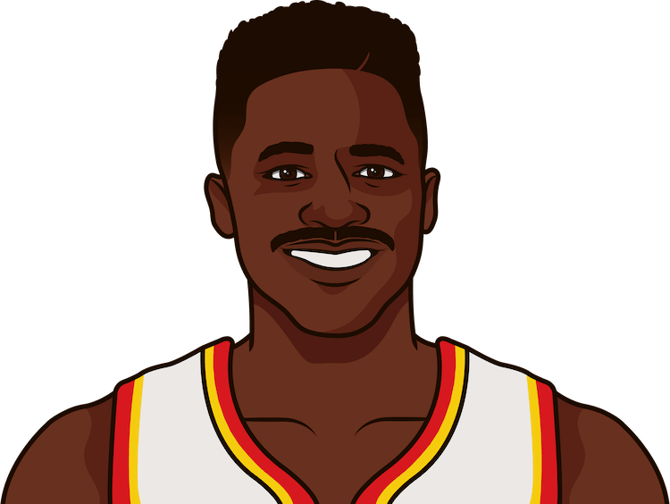 What are the most points in a game by Dominique Wilkins?