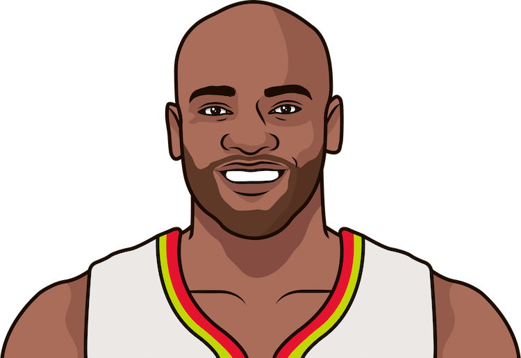 vince carter average assists from 1/1/1990 to 12/11/2017