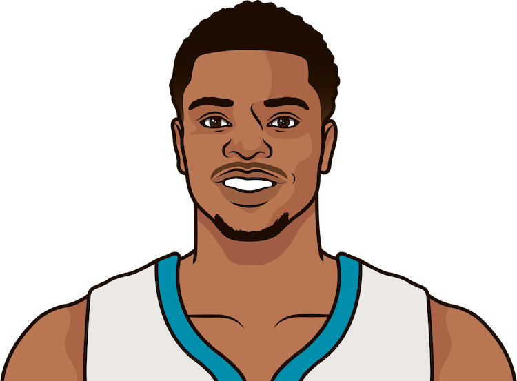 Who was the last Hornets rookie with a double-double?