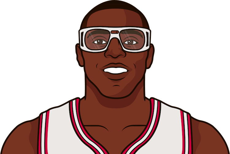 horace grant nba stats from october 1991 to january 1992