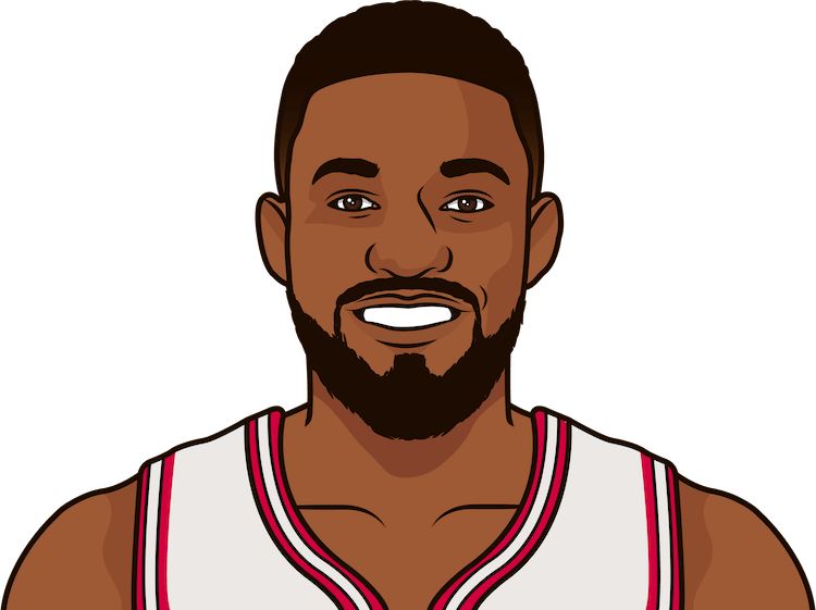 jabari in regular-season games vs the heat last year