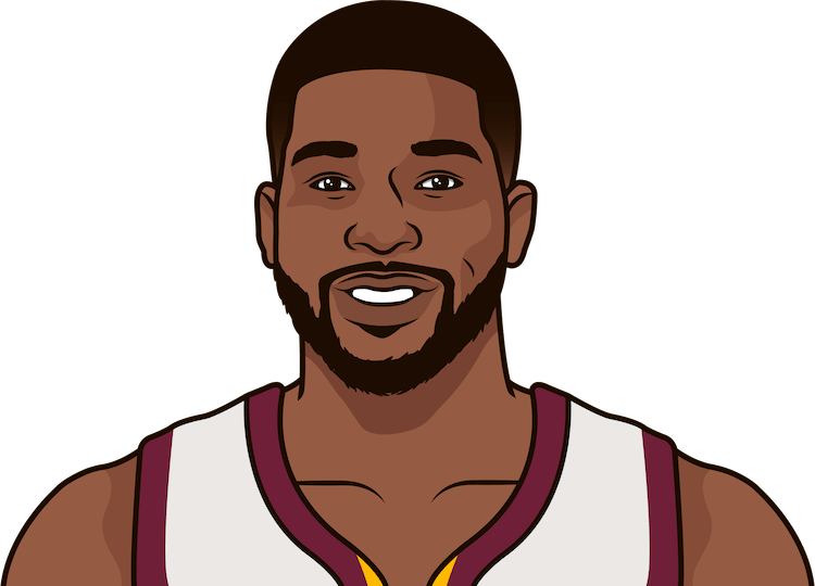 tristan thompson each of the last 5 games vs mia