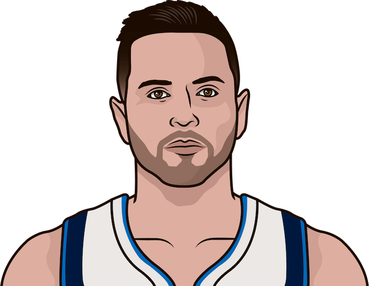 jj redick fg%, 3p%, ft% in the last 3 games