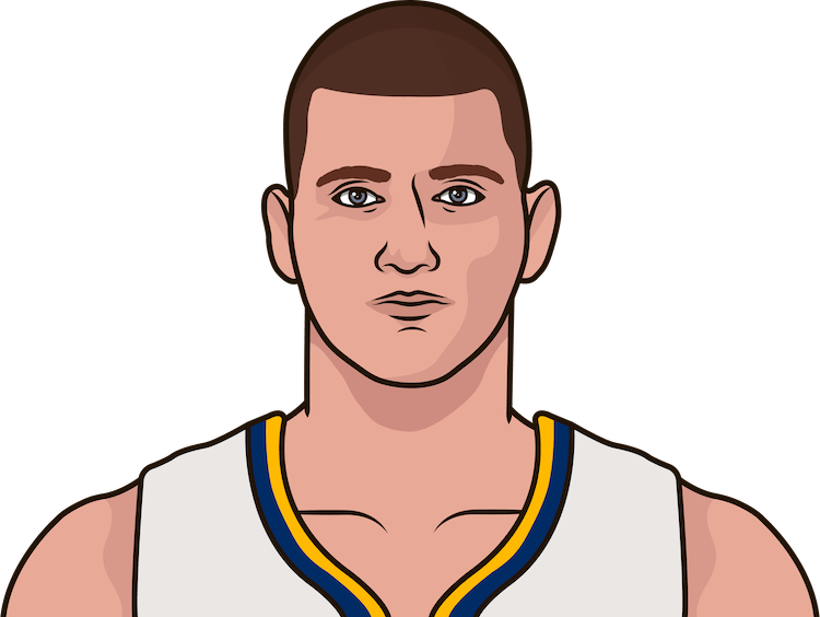 nikola jokic triple-doubles by season