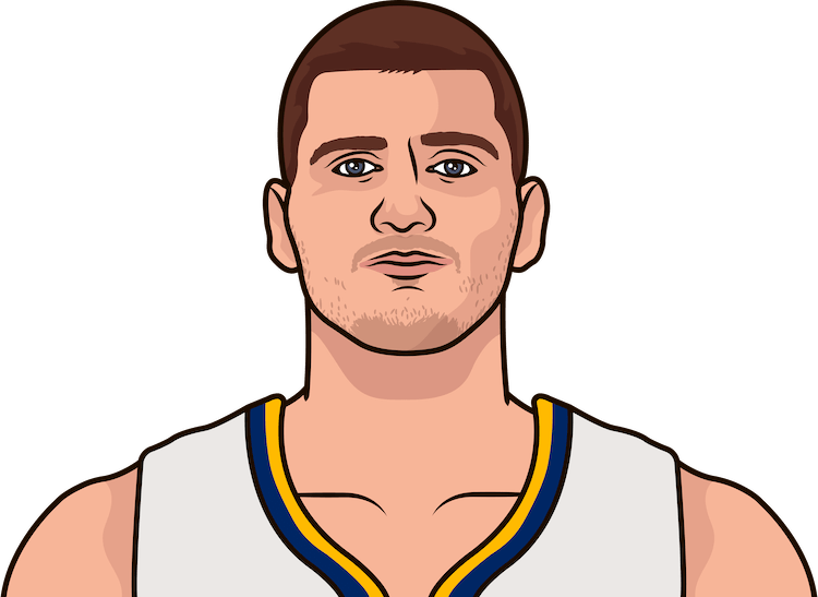 nikloa jokic vs thunder game log