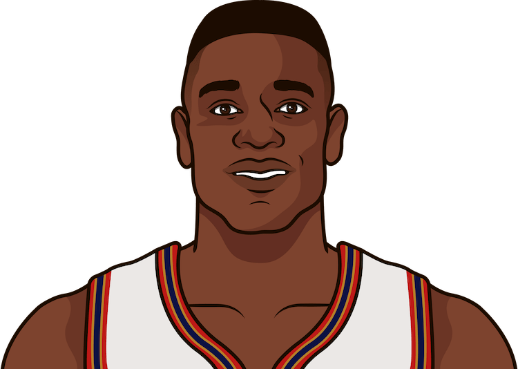 dikembe mutombo nba stats from october 1993 to january 1994