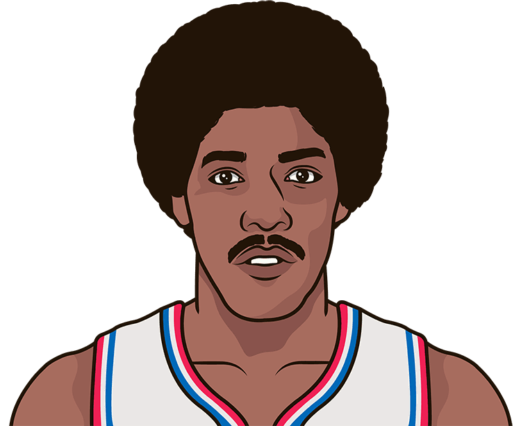 How many points did Julius Erving have in his first career NBA game?