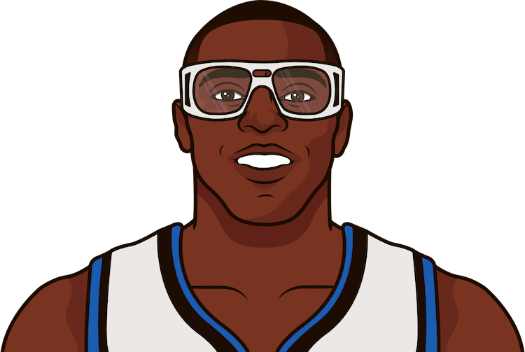 horace grant nba stats from october 1996 to january 1997