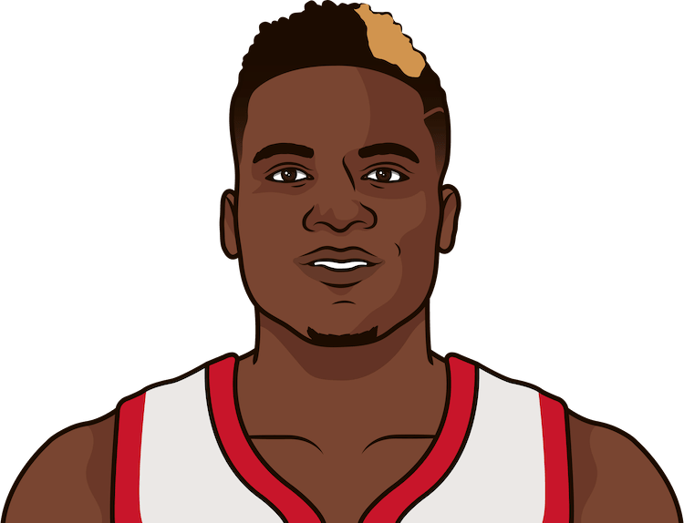 what is clint capela's career high in rebounds