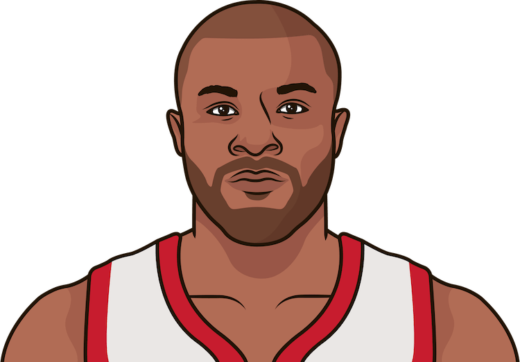 p.j. tucker rebounds per game last 15 games