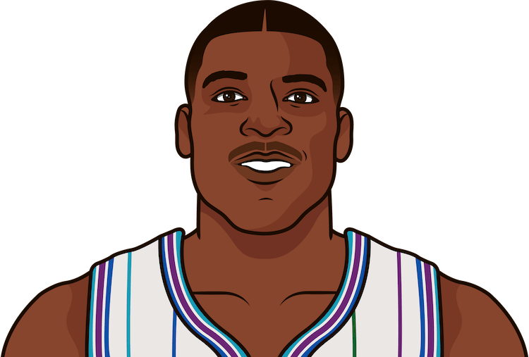 larry johnson nba stats from october 1993 to january 1994