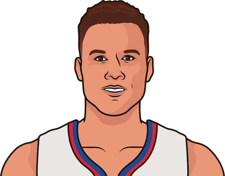 blake griffin vs det last 10 games