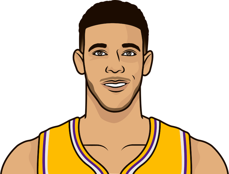 lonzo 2018 game stats vs nuggets
