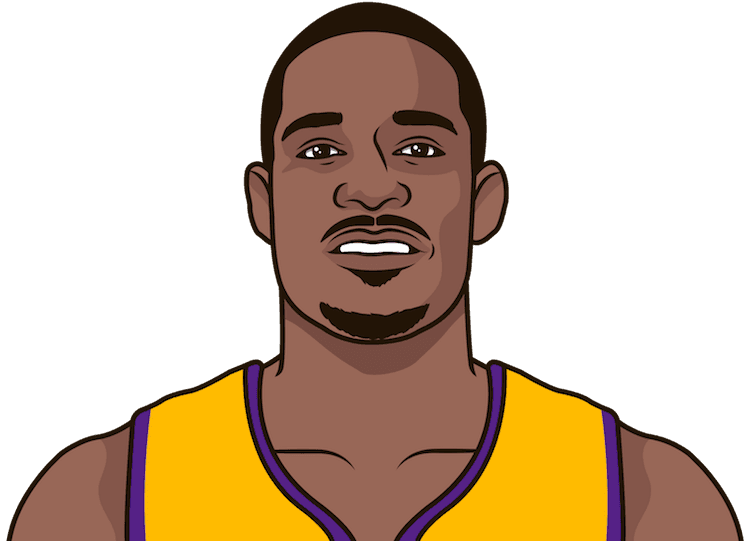 Illustration of Trevor Ariza wearing the Los Angeles Lakers uniform