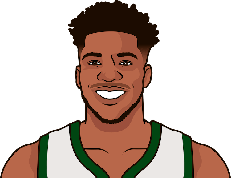 giannis antetokounmpo regular season game stats vs timberwolves last 3 seasons