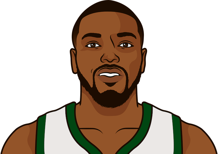 sterling brown average rebounds from 1/1/1990 to 12/21/2019