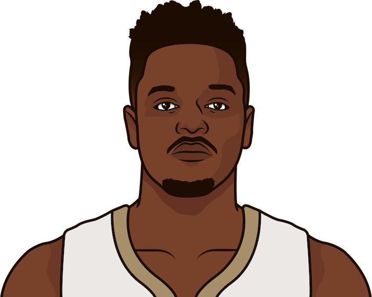 What are the most games with 30+ points in a season by Julius Randle?