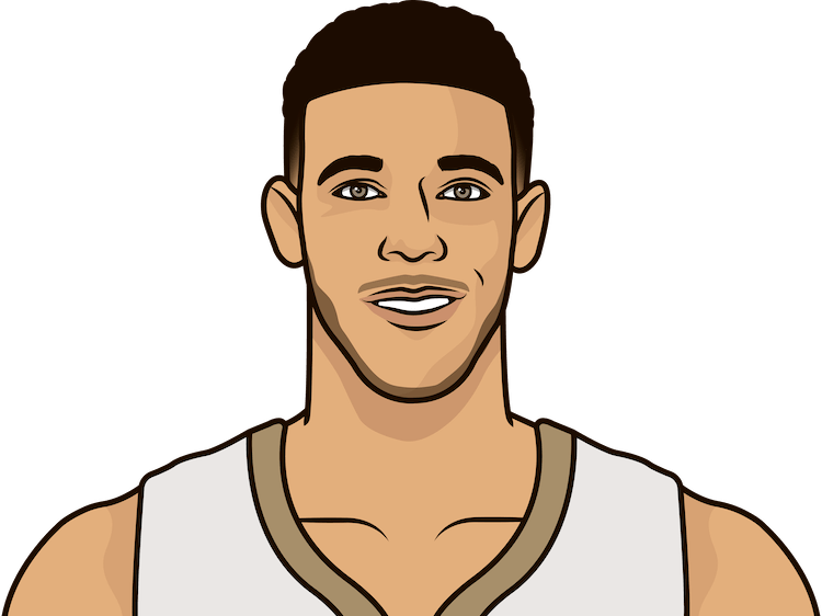 lonzo ball stats since february 1 2020