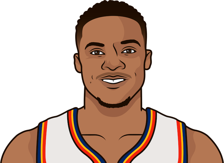 most points by russel westbrook in a single game