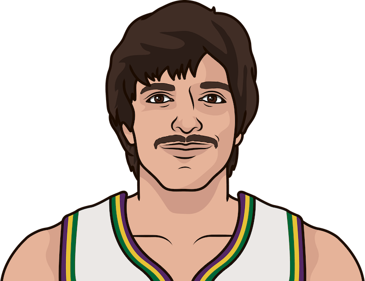 What are the most points in a game by Pete Maravich?