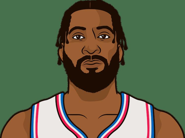 Illustration of Andre Drummond wearing the Philadelphia 76ers uniform
