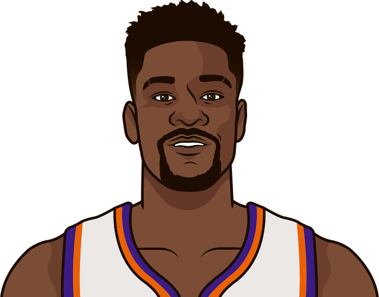 deandre ayton on back to backs this year