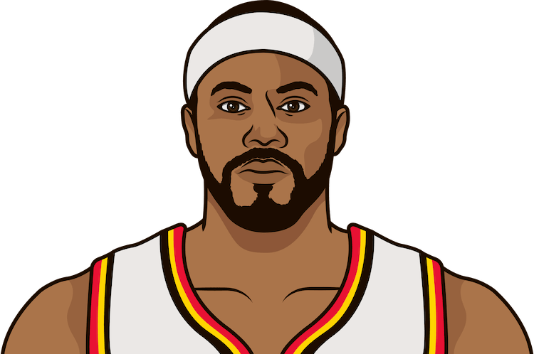 rasheed wallace most rebounds in a game as a hawk