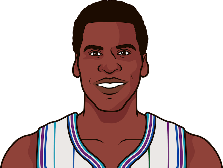 robert parish nba stats from october 1994 to january 1995
