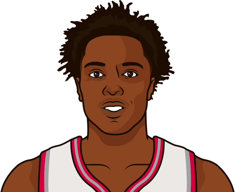 og anunoby stats vs mavericks in last 6 games
