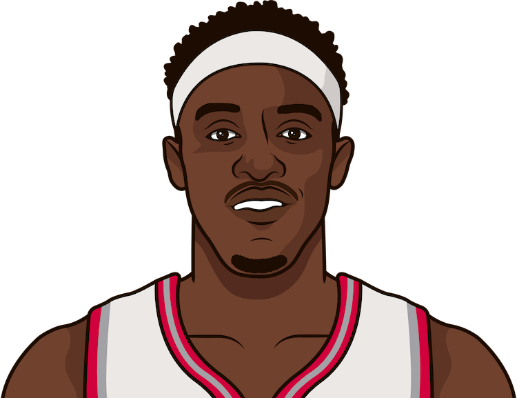 pascal siakam dfs versus boston celtics last 5 games