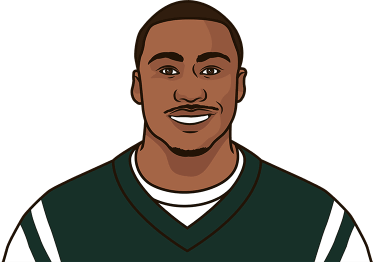who had the most receiving + yards for the new york jets in a season, minimum of 1000+ receiving + yards