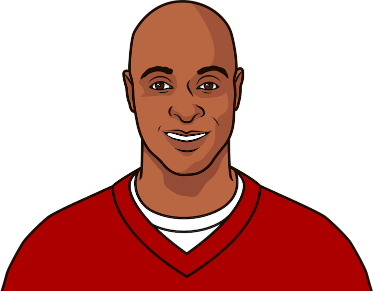 what was jerry rice's career + yardage in 2004