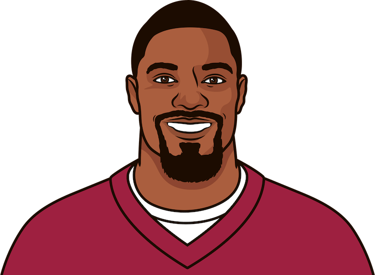 how many rushing yards did david johnson have against the rams this season