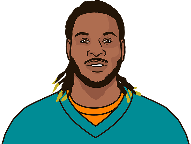 How many rushing yards did Jay Ajayi have last season?