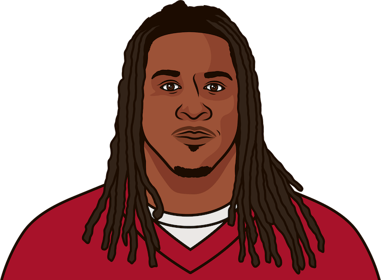When was the last time Devonta Freeman scored a touchdown in a game?