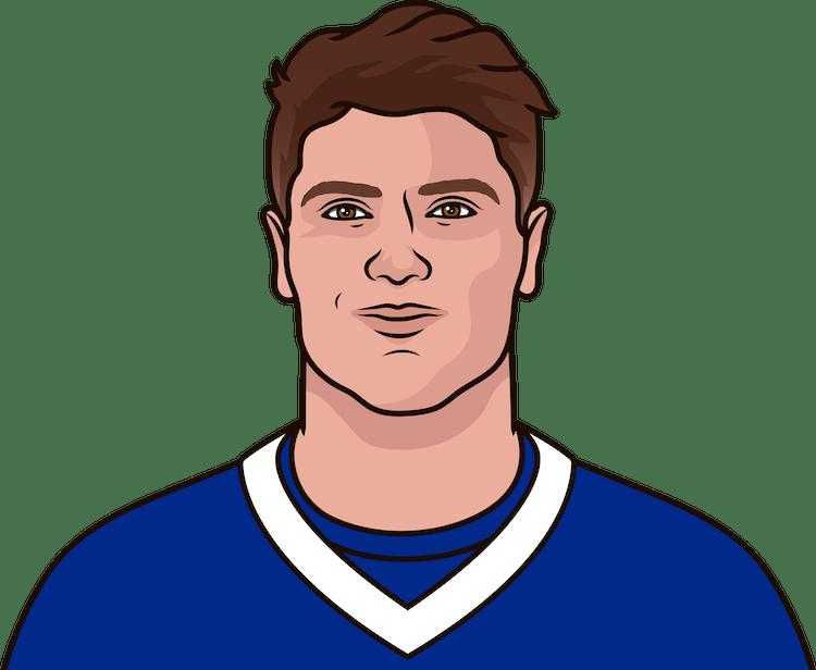 Illustration of Jacob Hollister wearing the Buffalo Bills uniform