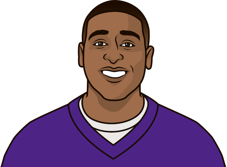 Who was the first Vikings player with 3 career games with 3+ REC TD?