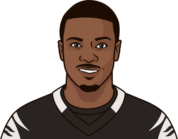 a.j. green against steelers by game
