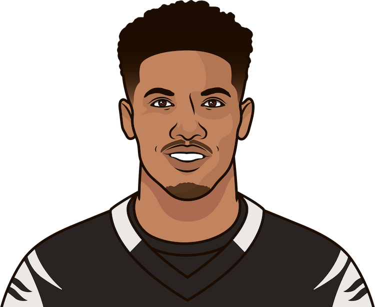 tyler boyd stats vs eagles