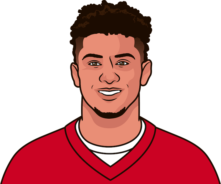 patrick mahomes playoff stats vs tom brayd