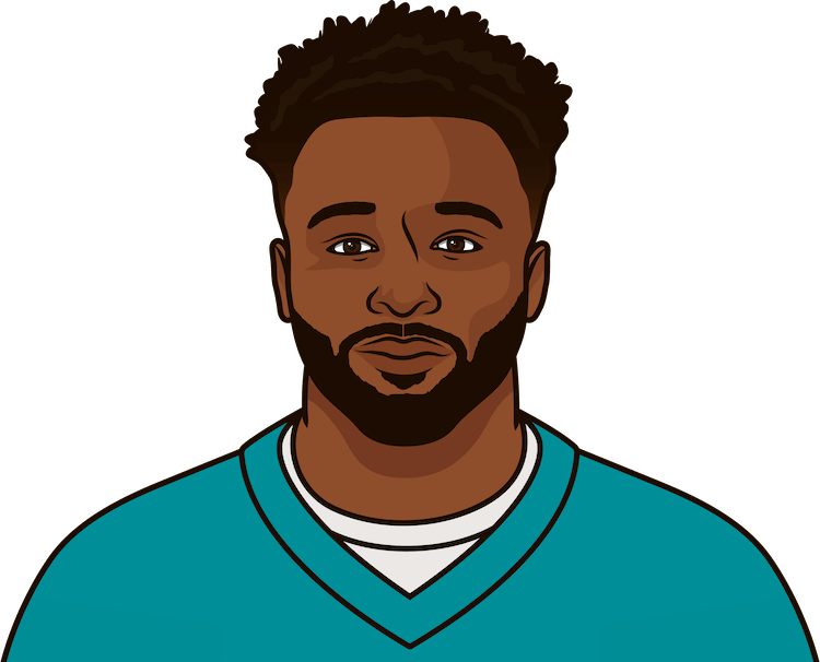 jarvis landry game log starting in 2015 including ryan tannehill pass attempts
