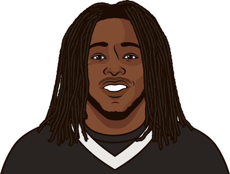 2017 alvin kamara most rushing attempts in a game